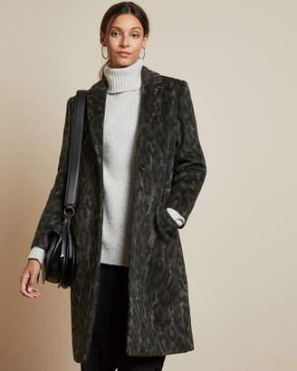 Ted Baker ILLENA Leopard print cocoon coat
