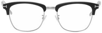 Tom Ford Black Blue Block Matte Browline Glasses