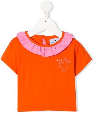 Raspberry Plum Joy ruffle-trim T-Shirt