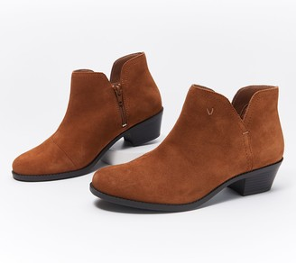Vionic Suede or Metallic Cutout Ankle Boots - Liv