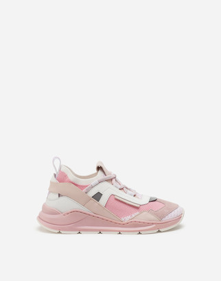 Dolce & Gabbana Mixed-Material Daymaster Sneakers