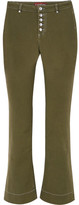 ALEXACHUNG Mid-rise Flared Jeans - Army green