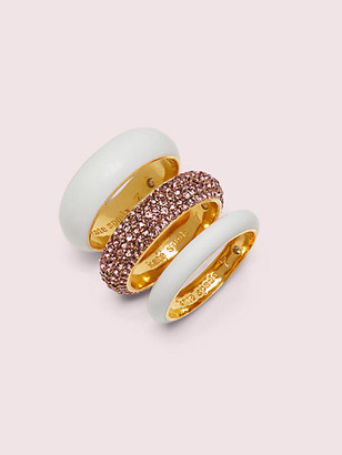 Kate Spade Candy Drops Pave Ring Set
