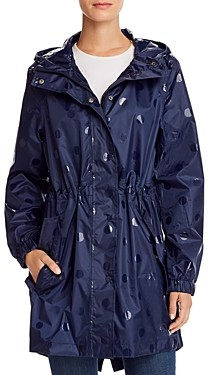 Joules GoLightly Packable Gloss Spot Raincoat