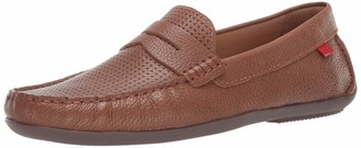Marc Joseph New York Mens Genuine Leather Union Street Driver Driving Style Loafer cognac grainy perforated 10 D(M) US