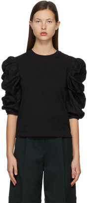 See by Chloe Black Puffy Sleeve T-Shirt