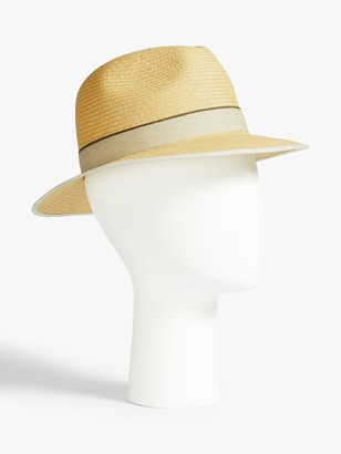 Christy Christys' Down Brim Panama Hat, Natural