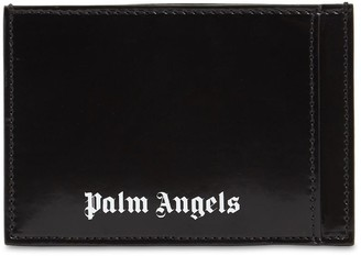 Palm Angels Logo Print Leather Card Holder