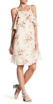 Bobeau Cold Shoulder Print Dress