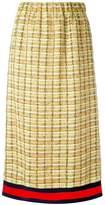 Gucci GG web midi tweed skirt