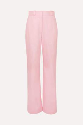 Loewe Cotton-twill Straight-leg Pants - Pink