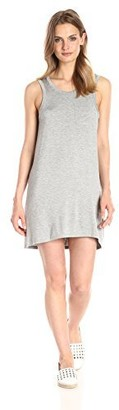 Chaser Women's Cool Jersey Scoop-Back Pocket Mini Dress Heather Grey Small
