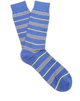 Pantherella Mariner striped cotton-blend socks