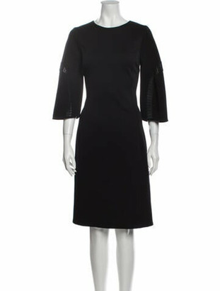 Oscar de la Renta 2015 Knee-Length Dress Wool