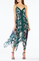 BCBGMAXAZRIA Isabela Asymmetrical Tulip Print Dress