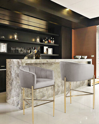 Chic Home Cyrene Taupe Stool