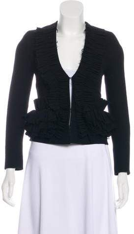 Givenchy Ruched Wool Jacket