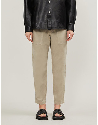 James Perse Tapered cotton jogging bottoms
