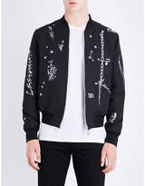 Alexander McQueen Safety pin woven bomber jacket