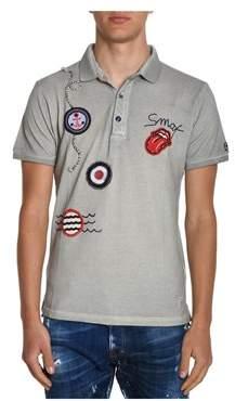 BOB Strollers Men's Grey Cotton Polo Shirt.