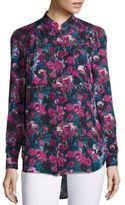 Haute Hippie Floral Printed High-Low Hem Shirt