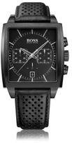HUGO BOSS 1513357 Chronograph Stainless Steel Leather Strap Quartz Watch One Size Assorted-Pre-Pack