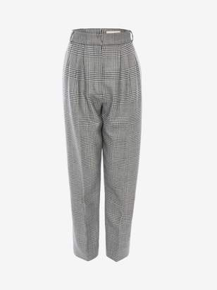 Alexander McQueen Prince of Wales Check Peg Trouser
