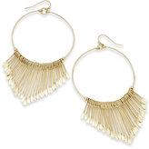 Thalia Sodi Gold-Tone V-Fringe Drop Hoop Earrings, Created for Macy's