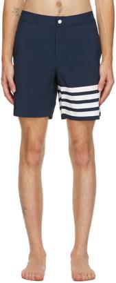 Thom Browne Navy 4-Bar Swim Shorts