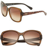 Diane von Furstenberg Tally Anne 57mm Square Sunglasses