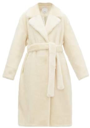 Tibi Faux Fur Wrap Coat - Womens - Cream