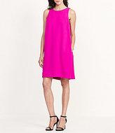 Lauren Ralph Lauren Round Neck Sleeveless Crepe Shift Dress