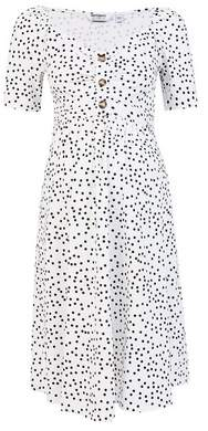 Dorothy Perkins Womens **Maternity Ivory Spot Print Sweetheart Dress