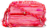 Ancient Greek Sandals woven charm crossbody bag - women - Cotton/Leather/Polyester/metal - One Size