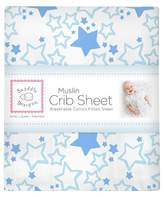 Swaddle Designs Cotton Muslin Crib Sheet - Starshine - Blue