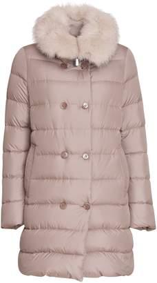 Moorer Detachable Fur Trimmed Jacket