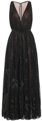 Alaia Lame maxi dress