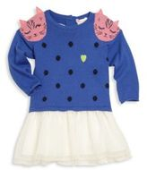 Billieblush Baby's Mixed Media Cat Graphic Dress