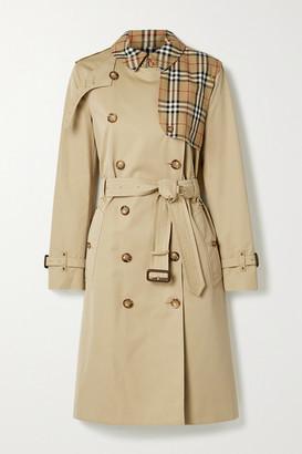 Burberry Hern Embellished Cotton-gabardine Trench Coat - Beige