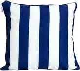 Indo Soul Indosoul Striped Outdoor Cushion, White, Shuteye Denim
