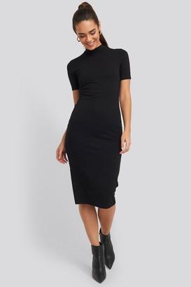 NA-KD High Neck Bodycon Midi Dress Black
