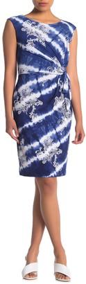Sandra Darren Extended Shoulder Puff Shift Dress