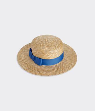 Vineyard Vines Wide Brim Straw Boater Hat