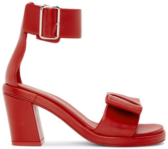Comme des Garcons Red Bow Heeled Sandals