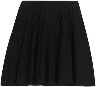 Alaia Pleated Stretch-knit Mini Skirt