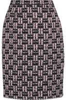 Oscar de la Renta Metallic Bouclé-Tweed Pencil Skirt
