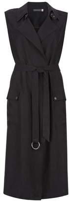 Mint Velvet Black Sleeveless Duster Jacket