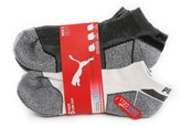 Puma Men's Cool Cell Low Cut Sport Socks, 6 Pairs, Shoe Size 6-12, White/Grey
