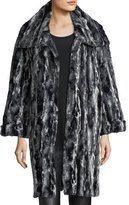 Caroline Rose Faux-Fur Easy Coat
