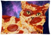 Generic Pillow cover Pillow case Cover Pizza Cat Pattern Two Sides 20 by 30 ID-30